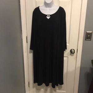 Susan Graver Liquid Knit Dress with Enamel Detail